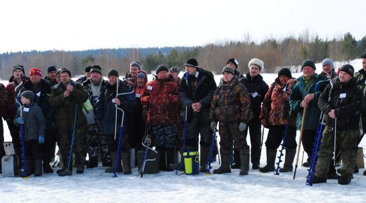 рыболовы встреча зимой