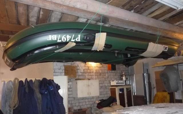 Хранение надувной лодки
