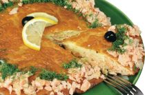 Рыбный пирог из форели